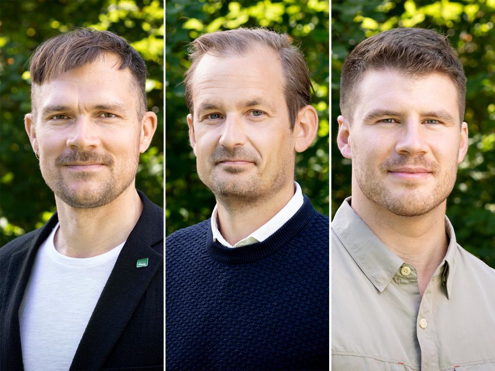 Josef Andersen, Andreas Hellohf, Vilhelm Moran från EnviroPlanning AB